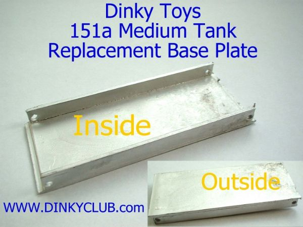 Dinky Toys 151A Medium Tank Baseplate [ Each ]